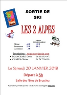affiche ski site